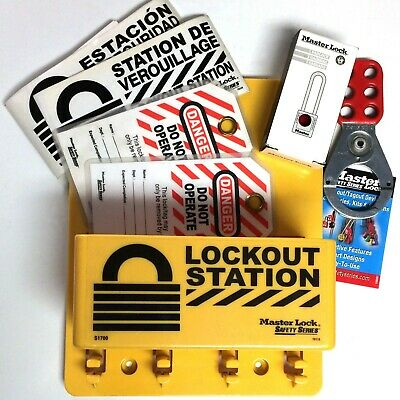 MASTER LOCK S1705P410 Electrical Lockout Station - Filled