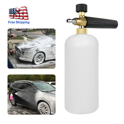 "1/4"" Snow Foam Lance Cannon Soap Bottle Sprayer Pressure Washer Gun Jet Car Wash"