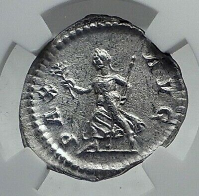 SEVERUS ALEXANDER Authentic Ancient 226AD Rome Silver Roman Coin PAX NGC i81283