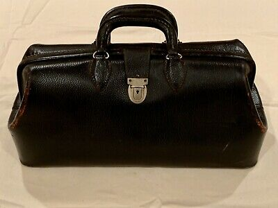Vintage Leather Doctor Medicine Bag Kruse 1625. Used By Elvis J. Swift