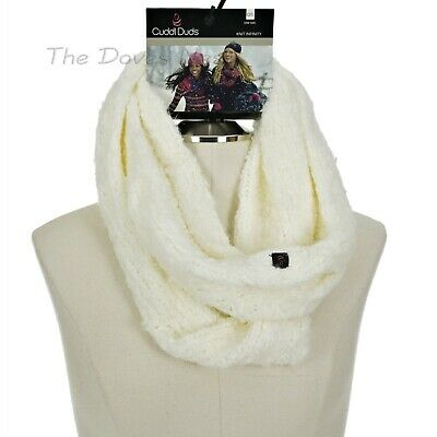 CUDDL DUDS Women's IVORY Soft Knit WINTER INFINITY SCARF Cold Weather LOOP SCARF