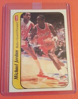 1987-88 Fleer Sticker Michael Jordan NBA Basketball Card Custom Reprint