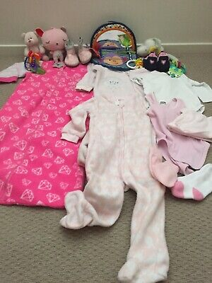 Bulk Baby Girl Clothing 12-18 Months And Mixed Baby Toys