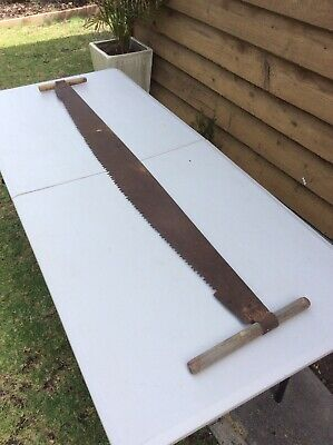 Vintage Large Cross Cut Saw; Old Tool; Decorative; Collectable; 161cms