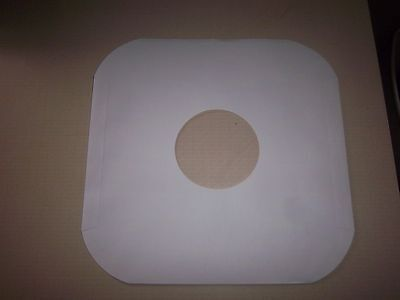 """100 ct 12"""" White paper record inner sleeves/hole for viewing Album,Lp, record"""