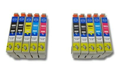 10x Cartucce d'inchiostro PER Epson Expression Home XP-30, XP-302, XP-305