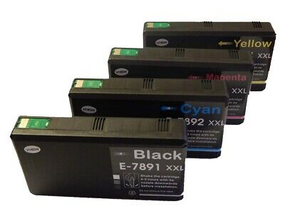 4x   CARTUCCE per Epson Workforce Pro WF4630DWF, WF4640DTWF