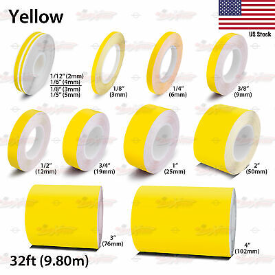 YELLOW Roll Vinyl Pinstriping Pin Stripe Car Motorcycle Line Tape Decal Stickers