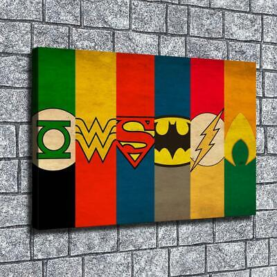 "12""x18"" Superhero character logo HD on Canvas Home Decor Room Wall Art paintings"