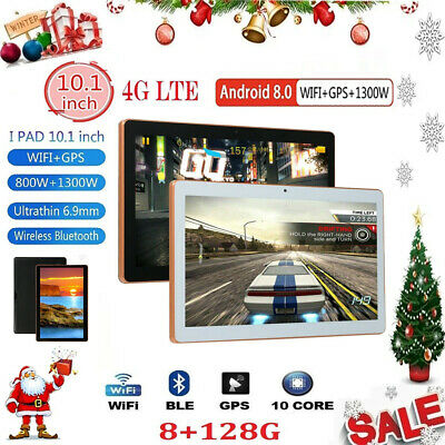 "10.1"" Tablet 8G+128G 10 Core 4G-LTE Android 8.0 Dual SIM Camera Wifi Phablet"