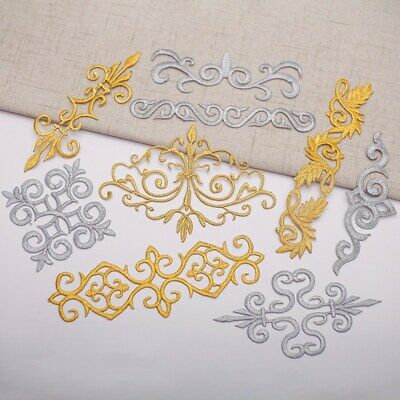 1pc Embroidery Applique Trim Iron Sew On Patch Costume Cosplay DIY Accessories