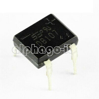 10PCS  DB107 DIP4 Single Phase 1A Glass Passivated Bridge Rectifiers Diode