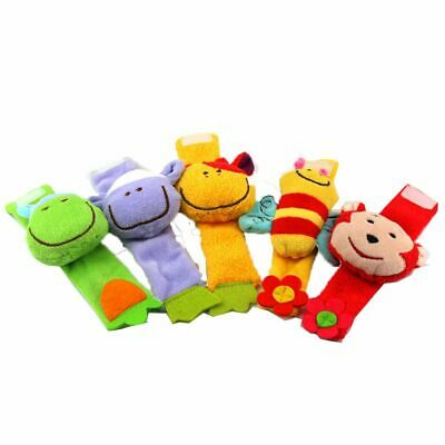 New Gifts Baby Lovely Plush Rattles Doll Wrist Strap Toy Soft