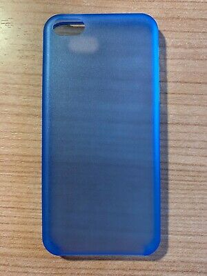 cover ultrasottile iPhone 5 0.3mm azzurra custodia trasparente blu