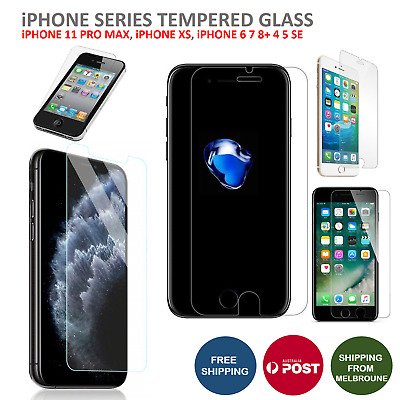 Screen Protector Tempered Glass for Apple iPhone 11 PRO MAX X 8 7 6S Plus 5 SE 4