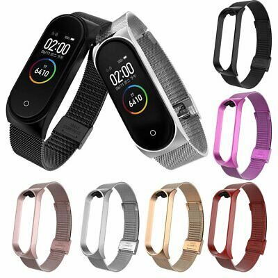 For Xiaomi Mi Band 3 4 Stainless Steel Milanese Bracelet Wrist Strap Watch Band