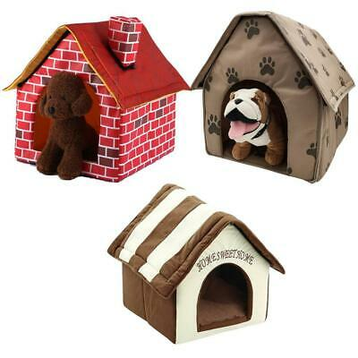 Home Pet Dog Bed House Soft Warm Comfortable Sleeping Cozy Hut Cave Kennel 3Type