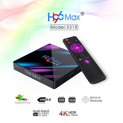 H96 Max Smart TV Box Android 9.0 RK3318 2Go/ 16Go 2.4G/5G WiFi Media Player X3G5