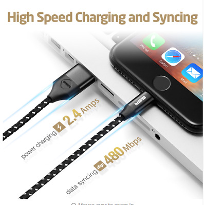 Lightning To Cable USB Mfi Certificado 8-Pin 6.6ft Datos Fast Carga 2M All Apple