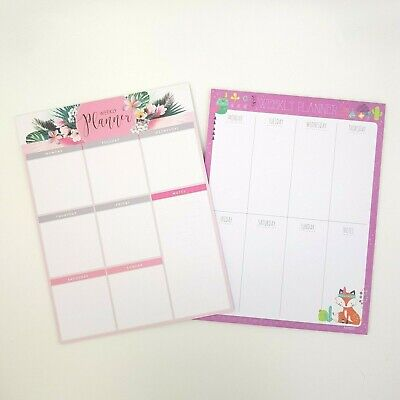60Pcs Weekly Daily Planner Agenda Schedule Plan Memo Note Paper Flower Animal