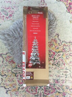 Artificial Snowy Larch 6ft Natural Look Christmas Tree Ceramic Log Effect Stand