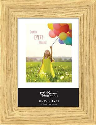 """6 x Oak Effect Photo Picture Frame 4' x 6"""" GEXO"""