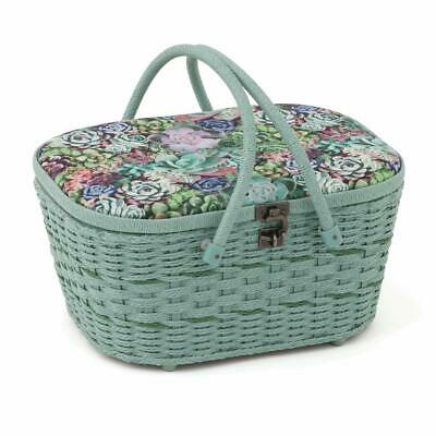 HobbyGift Wicker Sewing Box: Succulence