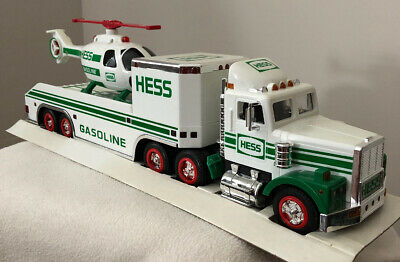 1995 Hess Toy Truck and Helicopter w/ Original box First Aerial Vehicle.