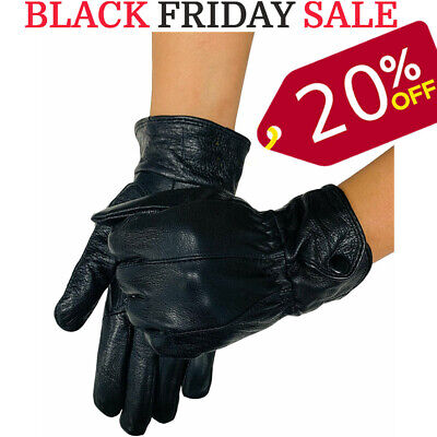 Quality Uk Leather Modern Casual Driving Warm Gloves Soft Thermal Fleece Lining