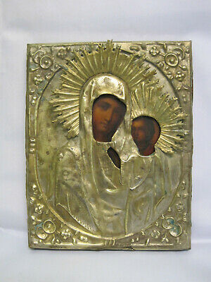 ICON. Antique Old Orthodox Icon. 19th century, Russia.