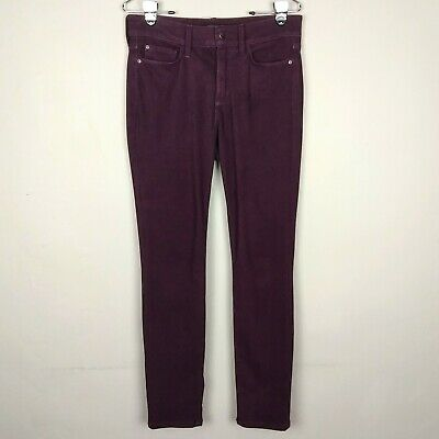 NYDJ Womens 10 Purple Alina Legging High Rise Lift Tuck Cotton Stretch Jeans