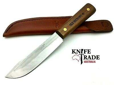 "Ontario Knife Old Hickory 5.5"" HUNTER Knife w/Leather Sheath Hunting Camp OH7026"