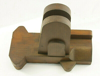 """Lamson Industrial Foundry Wood ~20 3/4""""  Machine Part Mold Pattern OFC"""
