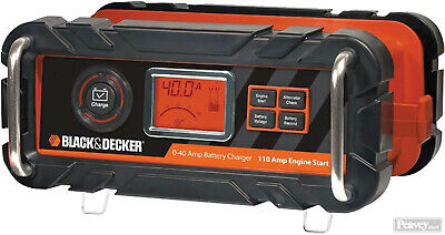 BLACK+DECKER BC40BD 40 Amp Battery Charger with 110 Amp Engine Start