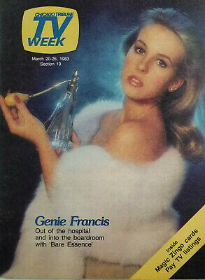 Chicago Tribune TV Week March 1983 - Genie Francis Cover - No Label - EX