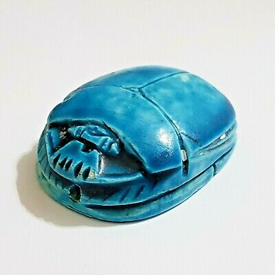 Egyptian Revival Grand Tour Large Scarab with Hieroglyphs.