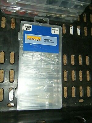 Halfords Assorted Split Pins Pack 425 Pieces 1.5mm-4mm x 25mm-65mm Workshop
