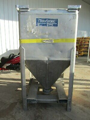 Metalcraft Transtore Aluminum Tote Hopper Bin, Portable, Stackable, Used