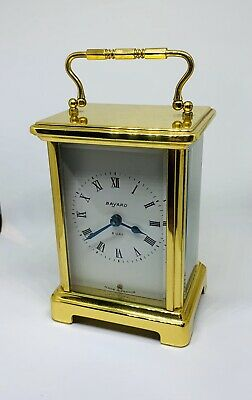 Charming little French Brass mignonette clock by Bayard