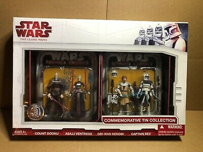 The Clone Wars: Commemorative Tin Collection TRU Exclusive 4 Figure Set - NEW!!!