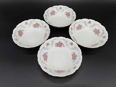 Royal Albert Tranquillity Soup Cereal Bowls Set Of 4 Bone China England