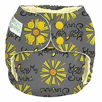Nicki's Diapers Pocket Diaper, Snap, You are My Sunshine (You are my Sunshine)