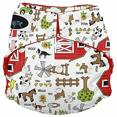 Imagine Baby Products Stay Dry All-in-One Snap Diaper, Barnyard (Barnyard Jam)