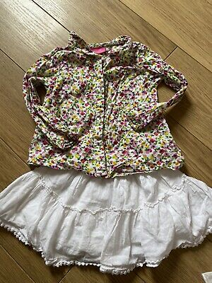 Girls Next 2-3 Years Floral Shirt / Blouse Skirt Outfit 2 Piece