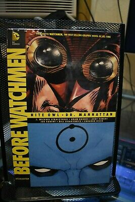 Before Watchmen Nite Owl Dr Manhattan Deluxe Edition DC OHC Hardcover NEW SEALED