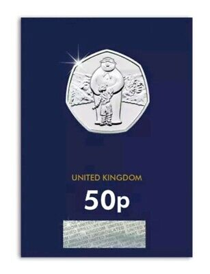 2019 The Snowman Fifty Pence 50p Coin Brilliant Uncirculated BU UK