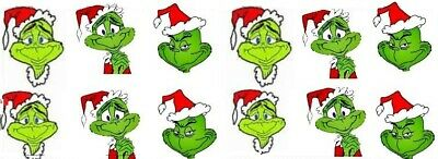 nail decal art Christmas The Grinch who stole Christmas 20 decals