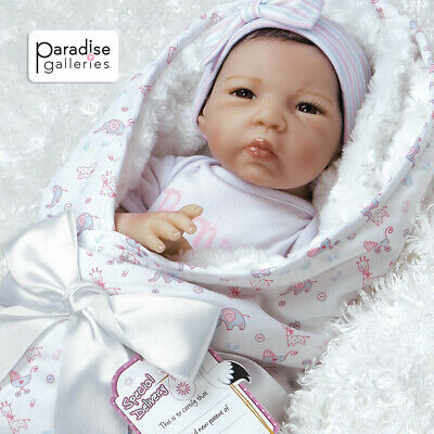"""Paradise Galleries Reborn Baby Doll /""""Baby Penguin/"""" in FlexTouch Silicone Vinyl"""