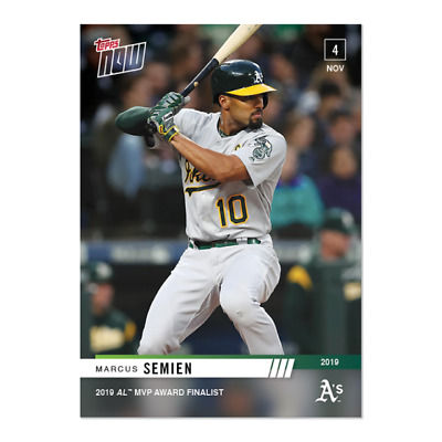 2019 Topps NOW OS-9 Marcus Semien Oakland Athletics [11.4.19]