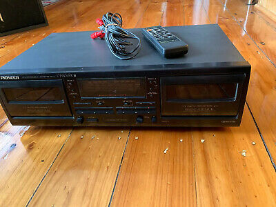 PIONEER CT-W205R Double Cassette Deck With Remote Tested Working